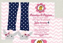 GIRL PARTY | Pancakes & Pajamas / From the original designer of the Pancakes and Pajamas Invitation with slippers!  / by Nicolle Spitulnik | Libby Lane Press