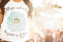 ZTA Shirt Inspiration / by Zeta Tau Alpha Fraternity