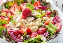 Salad & Dressing Recipes / Salads!  Vegetables, Fruit, Nuts and Cheese - all the food groups and great recipes for dressings too
