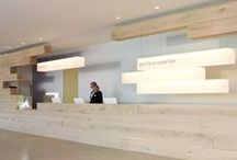 Reception desk and office / by Beatrice Karlinda