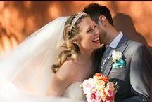 coral rustic wedding / rustic wedding flowers on coral palette