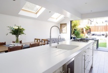 Kitchen Design Inspiration / Side extension, refurbishment or new tiles - discover Brittish home designs.