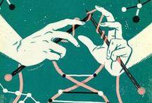 Lines & Yarns / Dibujos de inspiración handmade / by KRAFT★CROCH | Marisa