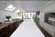 Side Return Extensions / Side Return Extension London, Side Extension London, Kitchen Extension London, Victorian Terraced House, Bi-Fold Doors, Kitchen, Rear Extension London, Glass Roof, Roof-lights, Kitchen ideas, Pitched Roof, Inside-outside, Side Return Ideas, Kitchen Extension Ideas