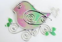 JasGlassArt - Etsy / Handmade stained glass jewelry and suncatchers