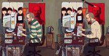 "IT-characters / Dmitry Narozhny | Illustrations for ""Devexperts"" company's calendar"