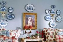 Home Decor:Things On Walls / Empty walls just beg for décor.  I cannot understand how some can leave a wall completely bare, and never hang anything on it. I love to fill the empty spaces. Changing them for each holiday adds to the creative urges.