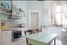 Home Interior:Kitchen / All things found in a kitchen/dining space, including dishes, table setting, utensils...anything cute and useful for preparing or serving meals.