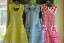 aprons / pretty aprons and apron patterns / by Marietta Avrus