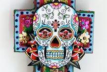 Dia de los Muertos / Mexican Holiday Day of the Dead Calaveras, Skeletons and Sugar Skulls