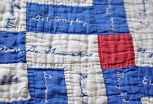 Quilting:Signiture Blocks / Did you sign that quilt?  A quilt where one or more people are able to leave a signature on a quilt as a gift.  Making great memories as a gift or heirloom. / by Penny Spinster
