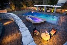 Garden:Hardscaping / Landscaping with rocks, gravel, cement.  Great ideas and inspirations.
