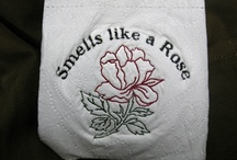 Toilet Paper embroidered