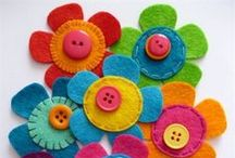 Arts & Crafts - Felt & Fleece Flowers / How to Make DIY Patterns, Projects and Ideas for Felt and Fleece Floral Flowers, Plants and Succulents.