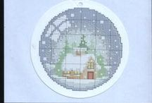 Stitchery:Cross Stitching / It seems like you can create a picture of anything a cross stitching chart.  I think that is what makes it so fun to do.  It's like coloring with a thread and needle. / by Penny Spinster
