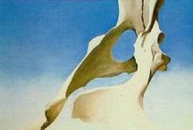 Artist-Georgia O'Keeffe / She is my favorite artist. She captured the beauty of western light and shadow in bones and sky.