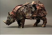 Rhino Art, Crafts, and Collectibles / Rhinos as art
