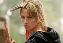 Beatrix Kiddo and Katniss Everdeen