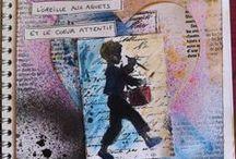 """Creer un art Journal spontané"""" / Art journal    Expression spontanée   Créativité  Les Ateliers L'Envol"""