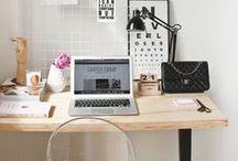 Home Office / Minhas inspirações com home office encantadores!!