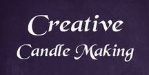 Creative - Candle Making / Ideas, tips, tricks, hacks, tutorials, and advice on making candles and how to use candles. There are also some pins that are about scented candles.