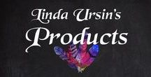 Linda's Products / The products I have in my webshop in addition to my art; Books, bookmarks, figurines, glove dolls, business planning posters, amulets and more