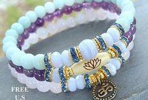 Women's Yoga mala bracelets by Life Force Energy Shop / This is my Buddhist inspired Bracelets, here you will find, Wrap bracelets, 108 malas, Yoga bracelets.  Enjoy!