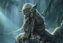 Star Wars / Yoda, Darth Vader, Darth Maul, Luc Skywalker, Obi-wan Kenobi - Jedis and siths