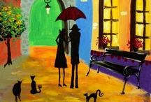 Kattittude Art >^..^< / Kitties in art form / by Suzy Smith