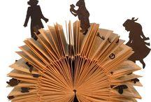 Arte librero / Libros esculpidos, ganchilleados