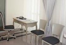 Aranżacja gabinetu lekarskiego / Interior design of the doctor's office / Aranżacja gabinetu lekarskiego, wystrój gabinetu, przychodnia, lekarz, poradnia medyczna. Zobacz więcej na www.amarantowestudio.pl