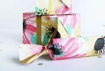 g i f t   w r a p / gift wrap inspirations to get your creative side engaged