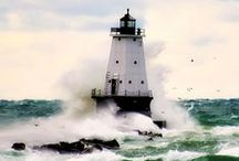 Lighthouse / The lighthouse has many meanings from directing one from the shoreline in stormy seas to being the strong power of the Lord. Lighthouses can inspire you if you let them.