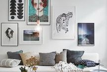 Gallery Walls / fun ways to display multiple pieces of art as a gallery wall
