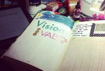 Visionboard ideas / A gathering place for vision board projects: materials, examples, process.