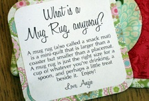 mug rugs, coffee cosys & coasters / by Becki Niederworder