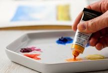 Canvas and Brushstrokes