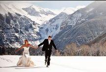 Telluride Winter Weddings / Winter wonderland weddings in Telluride.  Enjoy!