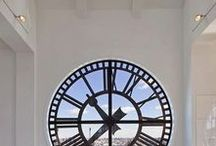 Beautiful Window Clocks / Lighten up your house with a nice window clock and always be on time :)