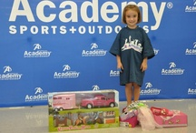Items Kids Shop for with a $100 Academy Sports + Outdoors Gift Card / Academy Sports + Outdoors invites a local youth organization to every new store opening and gives each child a $100 gift card and a private shopping spree! These are some of the items kids have picked. Great gift ideas for different ages! / by Academy Sports + Outdoors