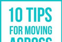 Mute the Moving Madness / Ideas to help make moving to a new home as easy as possible.