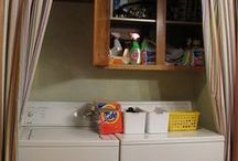 Laundry Space / Ideas for decorating, organizing and cleaning the laundry room / by Emily Okaty Wilson @ My Pajama Days