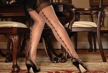 Unique Seamed Stockings / A collection of uniquely seamed stockings, thigh highs, tights and pantyhose.