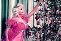 Old Hollywood Holidays / Vintage stars all glammed up for the holidays.