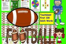 Sports Themed Learning Activities / These products are themed around baseball, soccer, football, and basketball.  Skills include sight words, addition, subtraction, multiplication, fact families, telling time, synonyms, antonyms, and contractions...