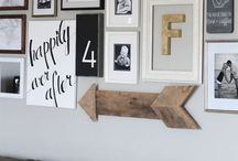 Gallery Wall Ideas / Gallery walls I love and tips for making a gallery wall