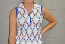 Nancy Lopez / Golf Fashion in sizes from small to 3X-Large by that great women's golfer, Nancy Lopez.