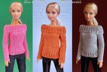 Barbie knitting / Knitting clothes & accessories for Barbie