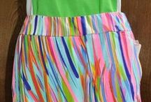 Coachella by EP Pro / Pinks and Greens are highlighted in the colorful Coachella pattern by EP Pro Women's Golf clothing, offered by From the Red Tees Clothing Store.