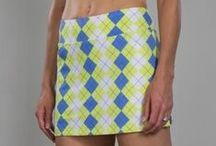 Jofit Chardonnay / Blues and apple greens are featured in this sporty golf and tennis ladies fashion collection by Jofit.